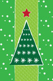 New year card with christmas tree Royalty Free Stock Image