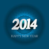 New Year 2014 for card colorful background design.  Stock Images