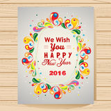 New Year Card. In colorful Royalty Free Stock Photos