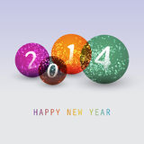 New Year Card - 2014. Colorful New Year's Card, Cover or Background Design in Freely Scalable and Editable Vector Format Stock Image