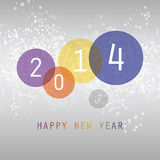 New Year Card - 2014. Colorful Sparkling New Year Card, Flyer, Cover or Background Design in Freely Scalable and Editable Vector Format Stock Photo
