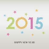 New Year card with colorful striped pattern Stock Photos