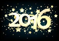 2016 New Year card Stock Photos