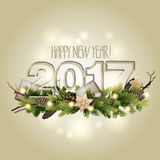 New Year card 2017 Stock Photography
