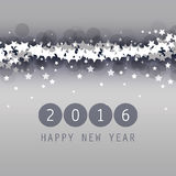 New Year Card, Cover or Background Template - 2016 Stock Image