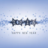New Year Card, Cover or Background Template - 2016 Royalty Free Stock Photo