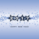 New Year Card, Cover or Background Template - 2017 Stock Images
