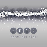 New Year Card, Cover or Background Template - 2014. Black and White Abstract New Year Card, Cover or Background Design in Freely Scalable and Editable Vector Royalty Free Stock Images
