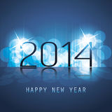New Year Card, Cover or Background Template - 2014. Blue Abstract New Year Card, Cover or Background Design in Freely Scalable and Editable Vector Format Royalty Free Stock Image