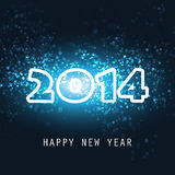 New Year Card, Cover or Background Template - 2014 Royalty Free Stock Image