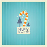 New Year card design. Royalty Free Stock Image