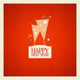 New Year card design. Royalty Free Stock Photos