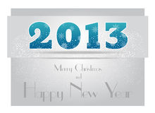 New Year Card Design Royalty Free Stock Photography