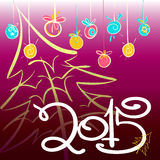 New year 2015 card design 3. New year 2015 card design  on gradient  pink background Stock Images