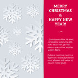 New Year card with different snowflakes. New Year card with the different snowflakes with deep shadows on an argentum background. Fully editable vector Royalty Free Stock Images