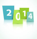 2014 new year card. This is file of EPS10 format Stock Images