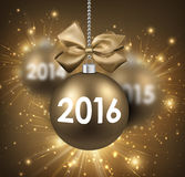 2016 New Year card Stock Image
