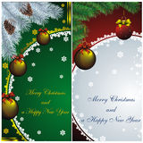 New year card with golden decor Stock Photo