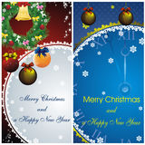 New year card with golden decor Royalty Free Stock Photo