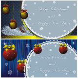 New year card with golden decor Royalty Free Stock Images