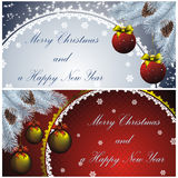 New year card with golden decor Stock Image