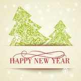 New year card. Happy new year card, design template. Vector ilustration stock illustration