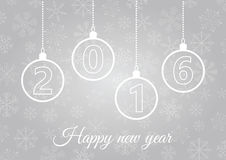 New Year card 2016. Happy New Year greeting card Stock Photography