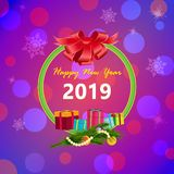 New Year Card royalty free illustration