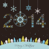 2014 New year card Stock Images