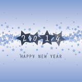 New Year Card - Happy New Year 2014 Royalty Free Stock Image