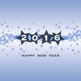 New Year Card - Happy New Year 2016 Royalty Free Stock Image