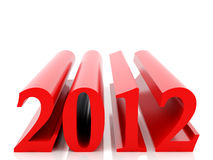 New 2012 year. Card. High resolution image.  3d rendered illustration Stock Photos