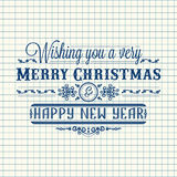 New Year card. Holiday colorful decor. Lettering Royalty Free Stock Photography