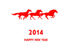 2014 New year card. vector Stock Image