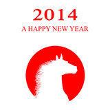 2014 New year card.  Royalty Free Stock Images