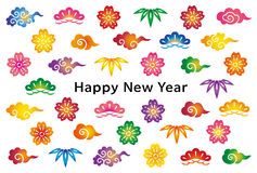 New year card with Japanese traditional design. Royalty Free Stock Image