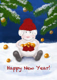 New year card 2015 Royalty Free Stock Images