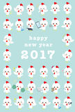 2017 new year card many bird height. Design Stock Photo