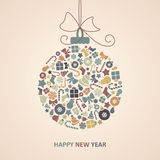 New Year Card Stock Image