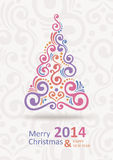 New Year Card. Merry Christmas lettering, vector illustration Stock Photos