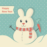 New Year Card. Merry Christmas lettering, vector illustration Stock Image