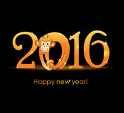 New Year card with monkey Royalty Free Stock Photos