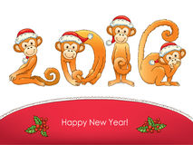 New year card Royalty Free Stock Images