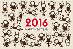 New Year card with Monkeys Stock Image