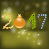 New Year card. Stock Photography