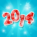 New Year 2014. New Year card with 2014 numbers Stock Photography
