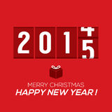 2015 New Year Card Odometer Style. Vector Illustration Stock Image