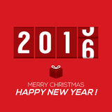2016 New Year Card Odometer Style. 2016 New Year Card Odometer Style Vector Illustration royalty free illustration
