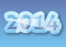 New Year card. Original New Year 2014 card in blue Vector Illustration