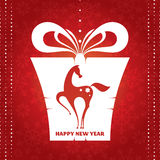 New year card with present Stock Photography